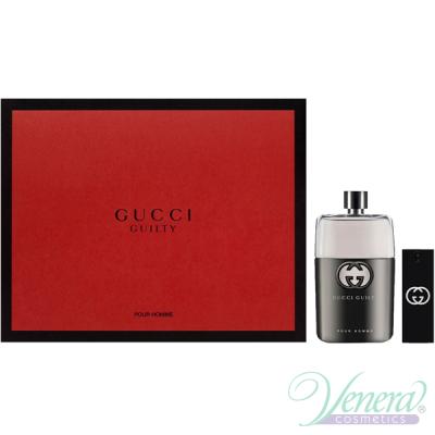 Gucci Guilty Pour Homme Комплект (EDT 150ml + EDT 30ml) за Мъже Мъжки Комплекти