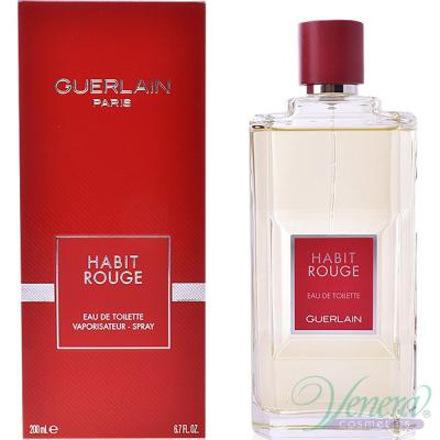 Guerlain Habit Rouge EDT 200ml за Мъже Мъжки Парфюми