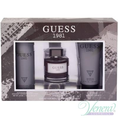 Guess 1981 Set (EDT 100ml + Shower Gel 200ml + Deo Spray 226ml) pentru Bărbați Seturi
