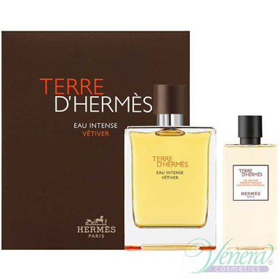 Hermes Terre D'Hermes Eau Intense Vetiver Комплект (EDP 100ml + SG 80ml) за Мъже