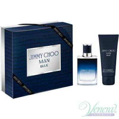 Jimmy Choo Man Blue Комплект (EDT 50ml + SG 100ml) за Мъже Мъжки Комплект