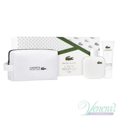 Lacoste L 12.12 Blanc Комплект (EDT 100ml + Shower Gel 50ml + Bag) за Мъже Мъжки комплекти