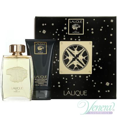 Lalique Pour Homme Lion Комплект (EDP 125ml + SG 150ml) за Мъже Мъжки Комплекти