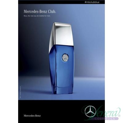 Mercedes-Benz Club Blue EDT 100ml за Мъже БЕЗ ОПАКОВКА Мъжки Парфюми без опаковка