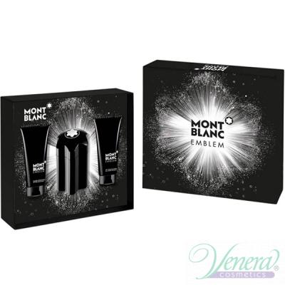 Mont Blanc Emblem Комплект (EDT 100ml + SG 100ml + AS Balm 100ml) за Мъже Мъжки Комплекти