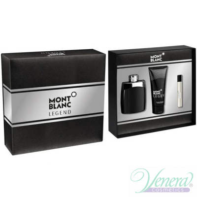 Mont Blanc Legend Комплект (EDT 100ml + AS Balm 100ml + EDT 7.5ml) за Мъже