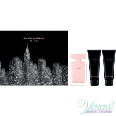 Narciso Rodriguez for Her Комплект (EDP 50ml + BL 75ml + SG 75ml) за Жени Дамски Комплекти