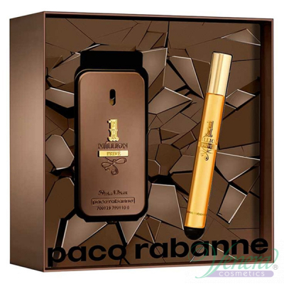 Paco Rabanne 1 Million Prive Set (EDP 50ml + EDP 10ml) pentru Bărbați Men's Gift sets