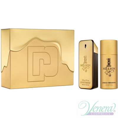 Paco Rabanne 1 Million Комплект (EDT 100ml + Deo Spray 150ml) за Мъже За Мъже