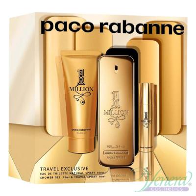 Paco Rabanne 1 Million Комплект (EDT 100ml + EDT 10ml + SG 75ml) за Мъже Мъжки Комплекти