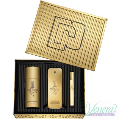 Paco Rabanne 1 Million Set (EDT 100ml + EDT 10ml + Deo Spray 150ml) pentru Bărbați Seturi