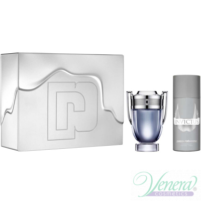 Paco Rabanne Invictus Set (EDT 100ml + Deo Spray 150ml) for Men Sets