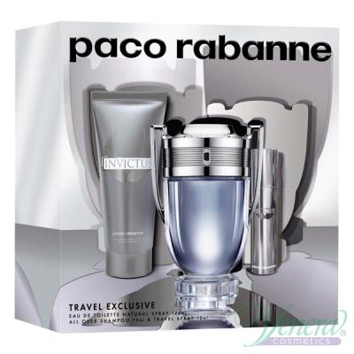 Paco Rabanne Invictus Комплект (EDT 100ml + EDT 10ml + SG 75ml) за Мъже Мъжки комплекти