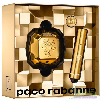 Paco Rabanne Lady Million Комплект (EDP 50ml + EDP 10ml + Ключодържател) за Жени Дамски Комплекти