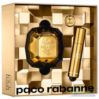 Paco Rabanne Lady Million Комплект (EDP 50ml + EDP 10ml + Ключодържател) за Жени