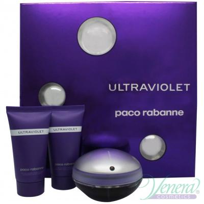 Paco Rabanne Ultraviolet Комплект (EDP 50ml + BL 50ml + SG 50ml) за Жени Дамски Комплекти