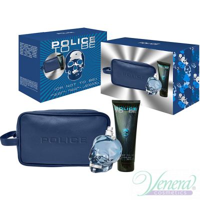 Police To Be Комплект (EDT 125ml + All Over Shampoo 75ml + Bag) за Мъже
