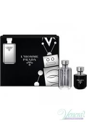 Prada L'Homme Set (EDT 50ml + Shower Cream 100ml) για άνδρες Ανδρικά Σετ
