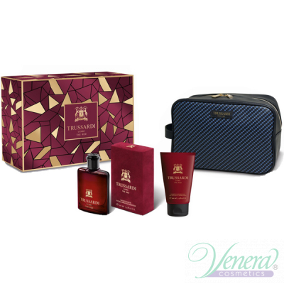 Trussardi Uomo The Red Set (EDT 100ml + SG 100ml + Bag) за Мъже
