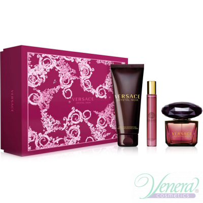 Versace Crystal Noir Set (EDT 90ml + EDT Roll On 10ml + SG 150ml) για γυναίκες