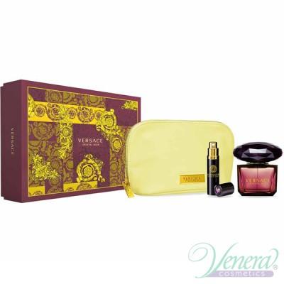 Versace Crystal Noir Set (EDT 90ml + EDT 10ml + Bag) за Жени Дамски Комплекти