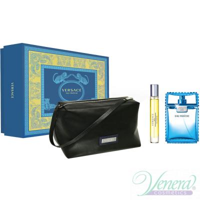 Versace Man Eau Fraiche Set (EDT 100ml + EDT 10ml + Bag) για άνδρες