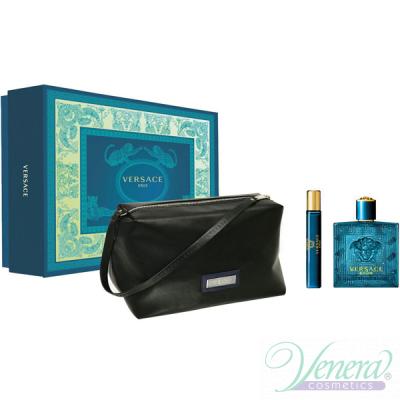 Versace Eros Комплект (EDT 100ml + EDT 10ml + Bag) за Мъже Мъжки Комплекти