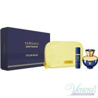 Versace Pour Femme Dylan Blue Set (EDP 100ml + EDP 10ml + Bag) за Жени Дамски Комплекти