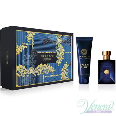 Versace Pour Homme Dylan Blue Комплект (EDT 100ml + SG 150ml) за Мъже