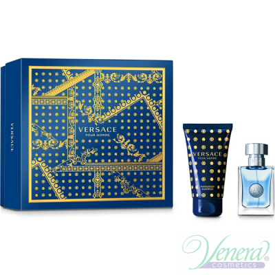 Versace Pour Homme Комплект (EDT 30ml + Shower Gel 50ml) за Мъже За Мъже