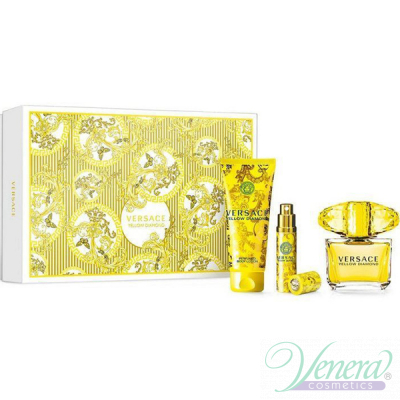 Versace Yellow Diamond Комплект (EDT 90ml + EDT 10ml + BL 100ml) за Жени За Жени