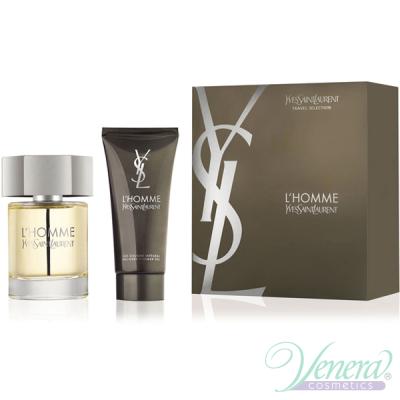 YSL L'Homme Комплект (EDT 100ml + SG 100ml) за Мъже Мъжки Комплекти