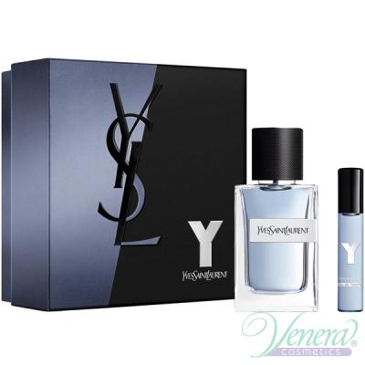 YSL Y For Men Комплект (EDT 60ml + EDT 10ml) за Мъже Мъжки Комплекти