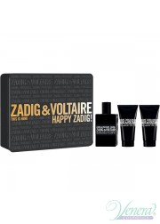 Zadig & Voltaire This is Him Set (EDT 50ml + SG 50ml + SG 50ml) Happy Zadig! για άνδρες Ανδρικά Σετ