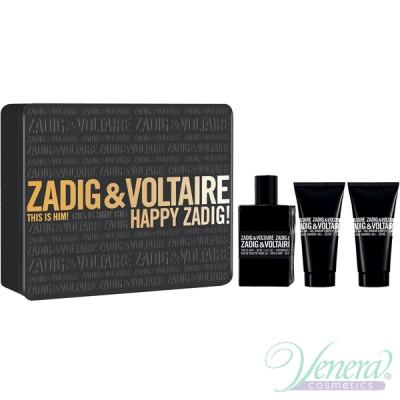 Zadig & Voltaire This is Him Комплект (EDT 50ml + SG 50ml + SG 50ml) Happy Zadig! за Мъже Мъжки Комплекти