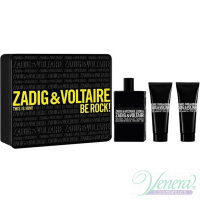 Zadig & Voltaire This is Him Set (EDT 100ml + SG 50ml + SG 50ml) Be Rock! for Men Men's Gift sets