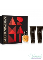 Emporio Armani Stronger With You Set (EDT 100ml + SG 75ml + SG 75ml) για άνδρες