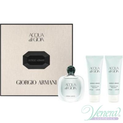 Armani Acqua Di Gioia Комплект (EDP 50ml + 2 x BL 75ml) за Жени