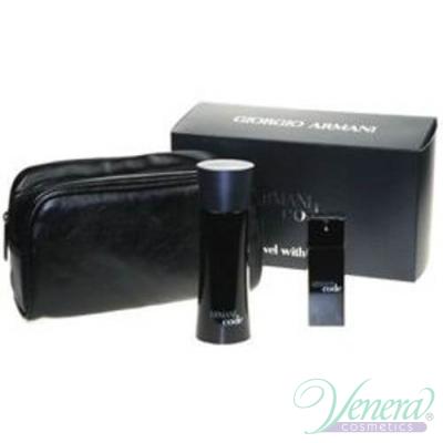 Armani Code Комплект (EDT 75ml + EDT 20ml + Bag) за Mъже Мъжки комплекти
