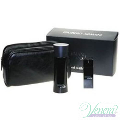 Armani Code Комплект (EDT 75ml + EDT 20ml + Bag) за Mъже