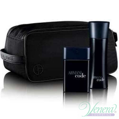 Armani Code Комплект (EDT 50ml + Shower Gel 75ml + Bag) за Mъже Мъжки комплекти