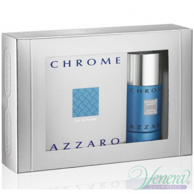 Azzaro Chrome Комплект (EDT 100ml + Deo Stick 75ml) за Мъже