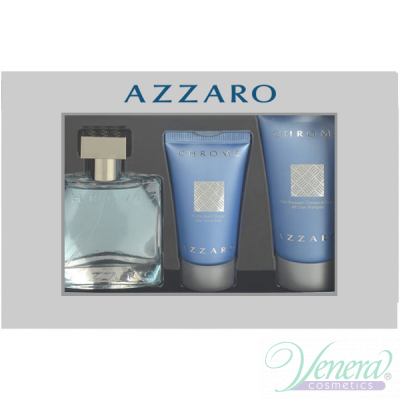 Azzaro Chrome Комплект (EDT 30ml + AS Balm 30ml + SG 50ml) за Мъже За Мъже
