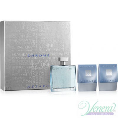 Azzaro Chrome Комплект (EDT 100ml + AS Balm 75ml + SG 75ml) за Мъже