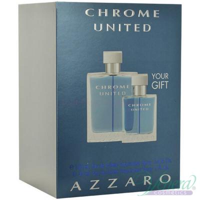 Azzaro Chrome United Комплект (EDT 100ml + EDT 30ml) за Мъже Мъжки Комплекти