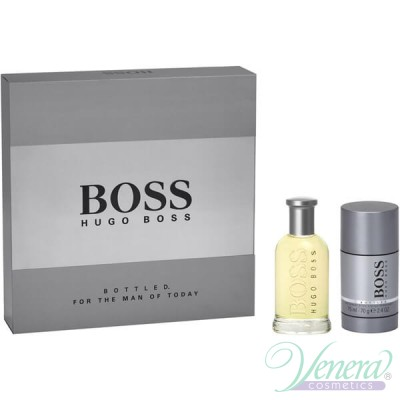 Boss Bottled Комплект (EDT 50ml + Deo Stick 75ml) за Мъже За Мъже