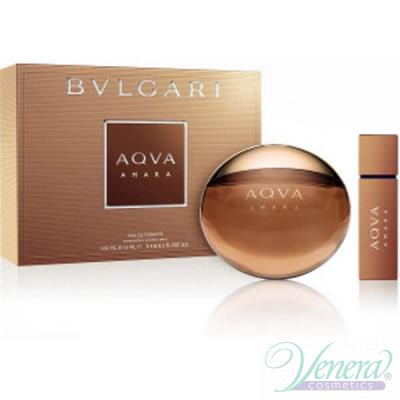 Bvlgari Aqva Amara Комплект (EDT 100ml + 15ml) за Мъже Мъжки Парфюми