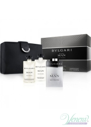 Bvlgari Man Extreme Set (EDT 100ml +AS Balm 75ml +SG 75ml +Bag) for Men Men's Gift sets