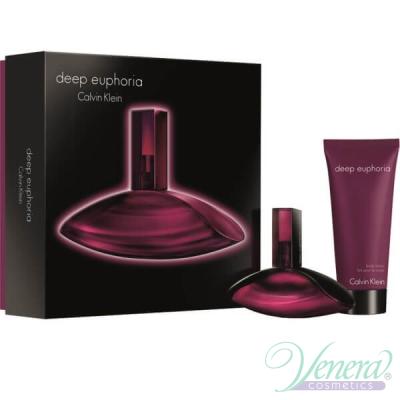 Calvin Klein Deep Euphoria Комплект (EDP 50ml + Body Lotion 100ml) за Жени Дамски Комплекти