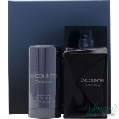 Calvin Klein Encounter Set (EDT 100ml + Deo Stick 75ml) за Мъже За Мъже